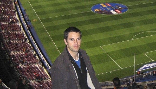 Paul at an El Classico in the Nou Camp Stadium