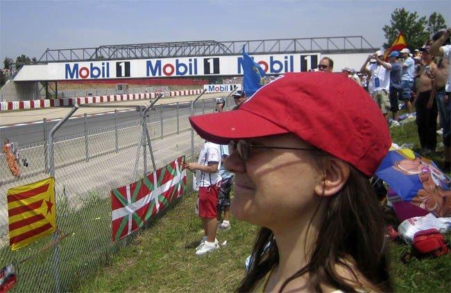Valeria at the Spanish F1