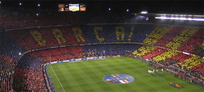In the stadium for Barcelona vs Real-Madrid