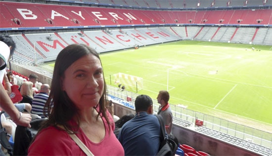 Allianz Arena in Munich as we do the tour