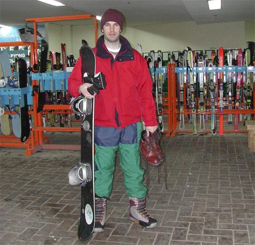 Snowboarding in Yongpyong Resort